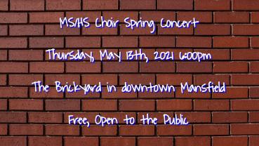 Spring Choir Concert at The Brickyard