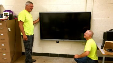 COVID-19 can't stop technology; classrooms getting LCD panels