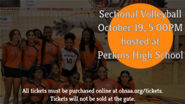 Sectional Volleyball hosted at Perkins High School, Tues. 10/19