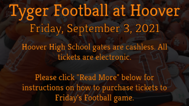 Important Ticket Information For Friday's Football Game At Hoover