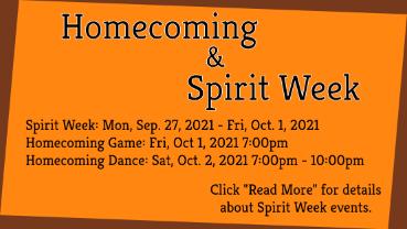 Homecoming & Spirit Week