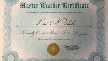 Master Teacher Award!