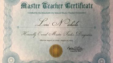 Master Teacher Award!