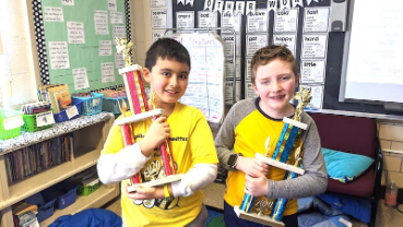 Spanish Immersion classmates 1-2 in third-grade spelling bee