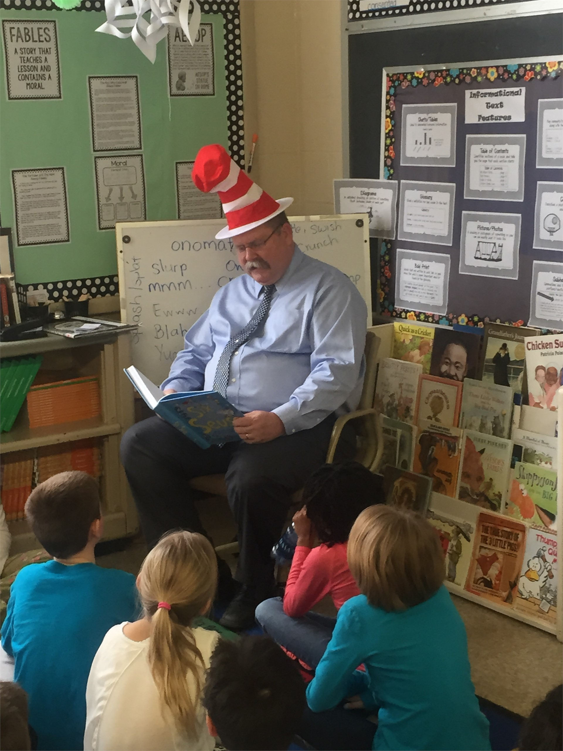 Dr. Seuss Celebration with Superintendent