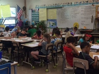 Mr. Stone's Third Grade Class working hard!
