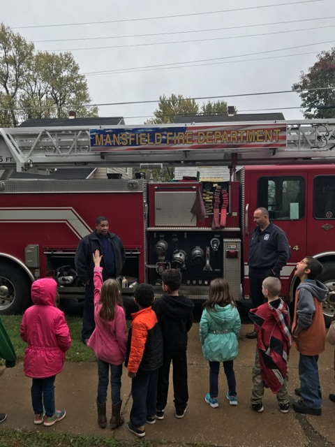 Career Day with Prospect 1st Graders  and  Mansfield Fire Department