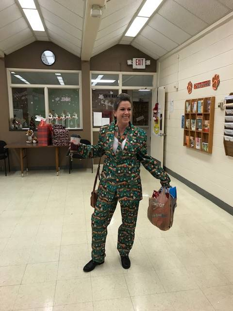 "Mrs. Hock knows how to ""style"" for Christmas!"