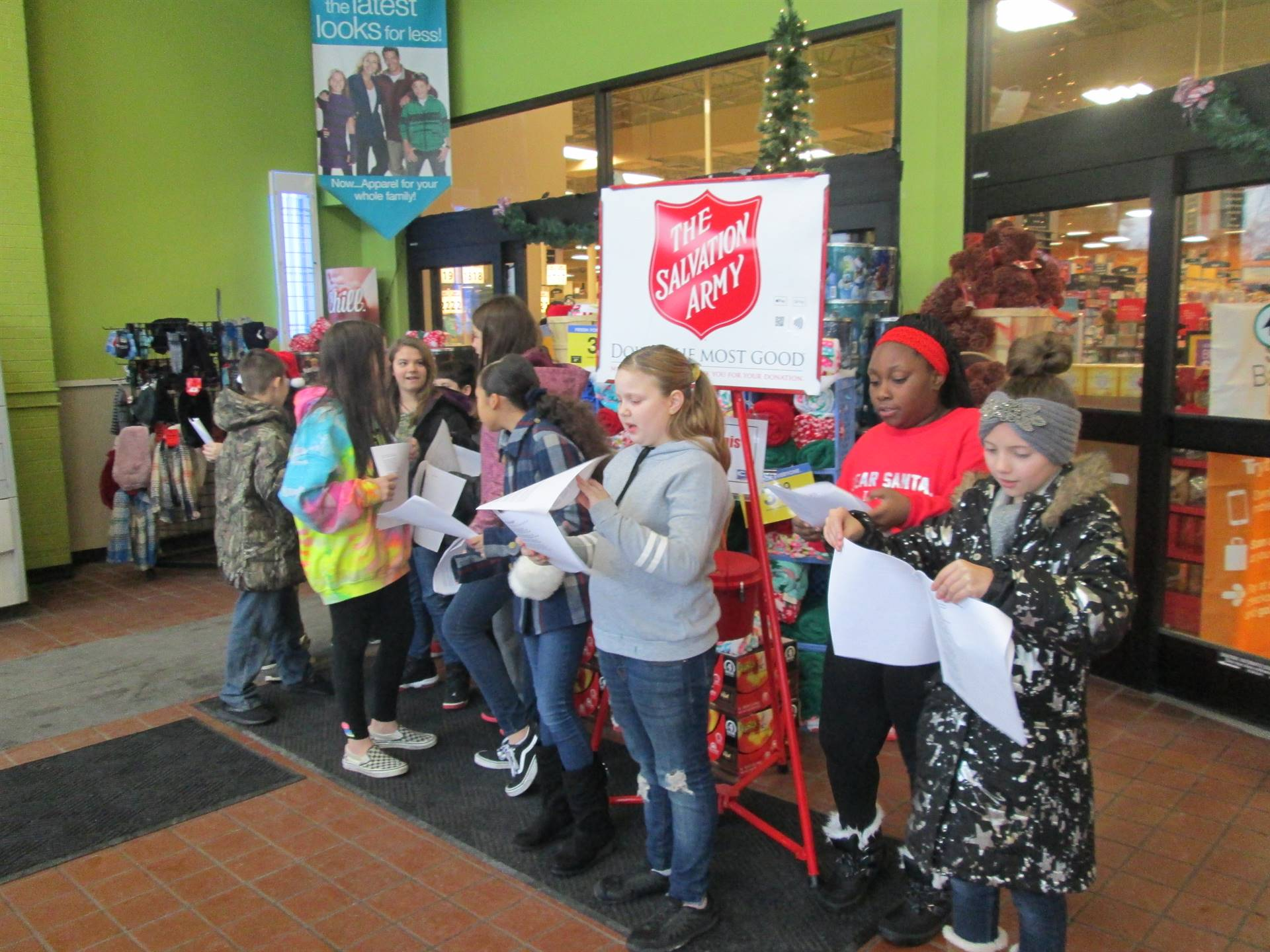 Caroling with the K-Kids & Salvation Army