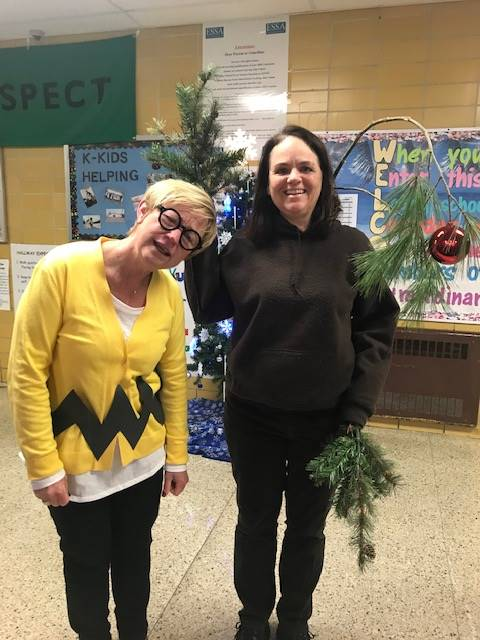Charlie Brown(Mrs. Root) & his Tree (Mrs. Cole)