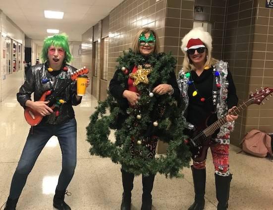 """Rockin around the Christmas Tree"" (Mrs. Stockwell,Mrs. Lehman & Mrs. Allenbaugh"
