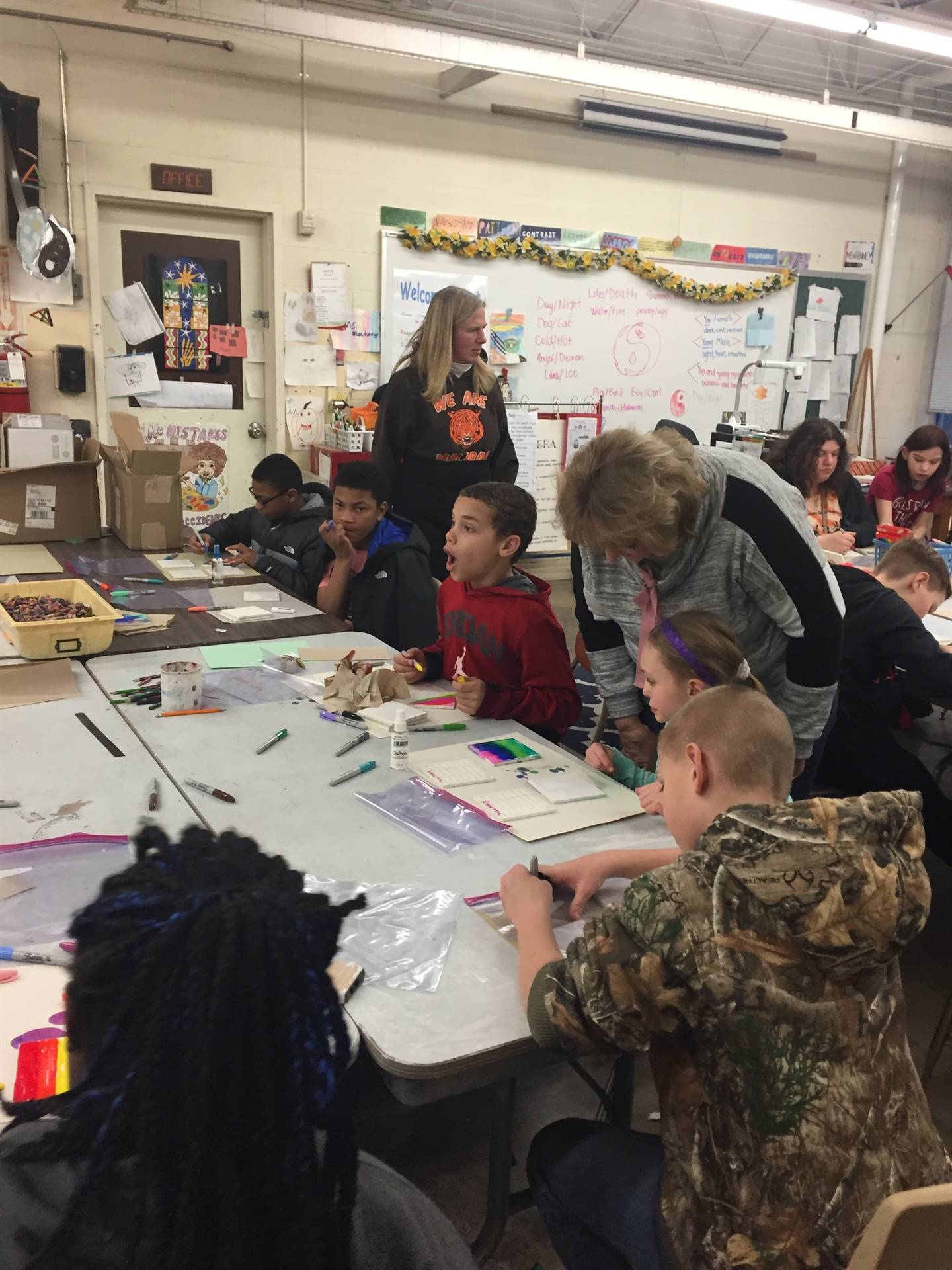 Mrs. Hager & Mrs. Plaisted Tile Painting