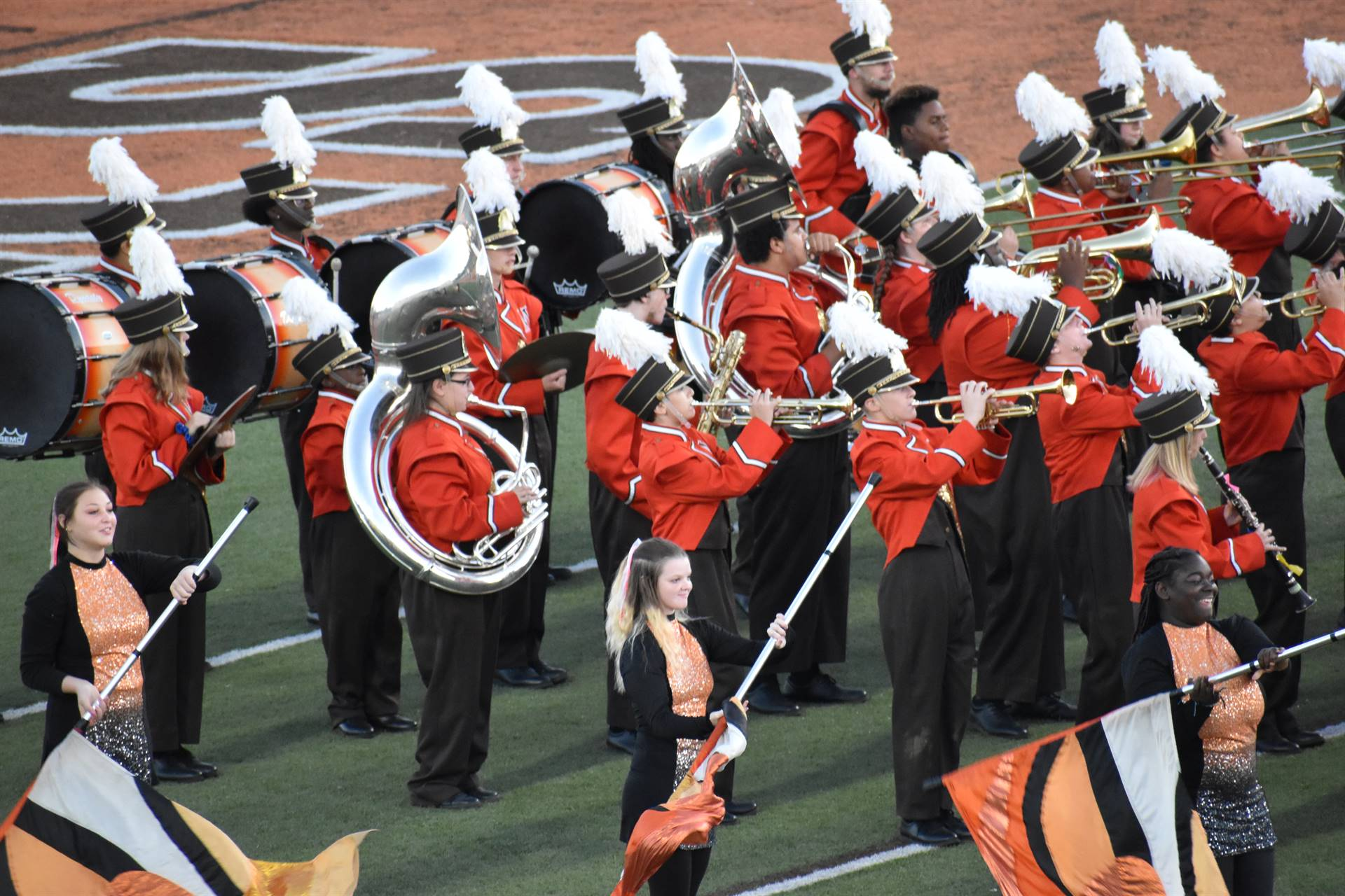 Band Performing at Homecoming Game