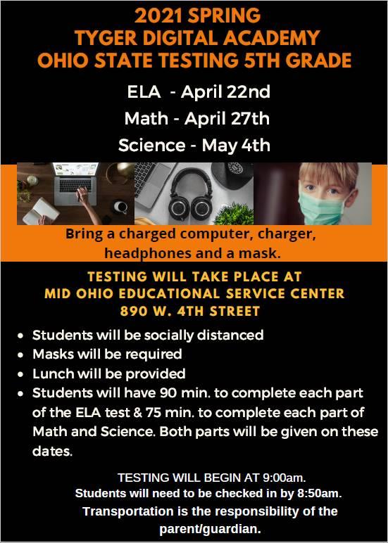 5th Grade State Testing