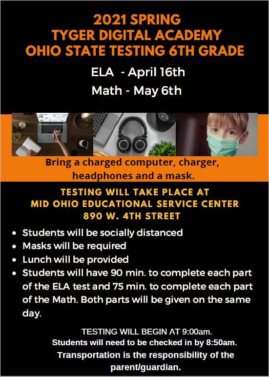 6th Grade State Testing