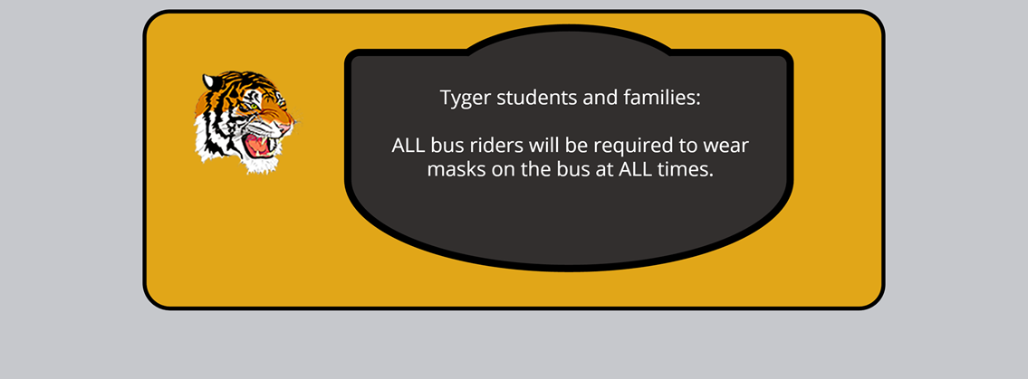 All bus riders will be required to wear masks on the bus at all times.